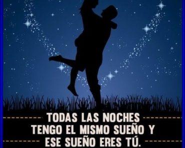 Frases románticas de buenas noches